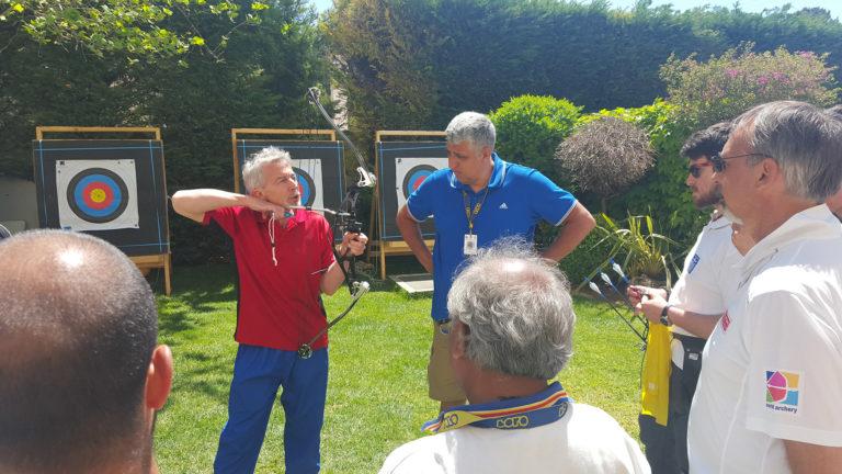 Arc archery france colmaire expertise haut-niveau formation pascal europe international athlete entraineur archerie tir